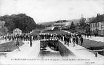 Le Canal de Bourgogne et l'entrée des usines métallurgiques