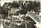 Jardin public, la rivière et le petit pont avec le Petit Mousse