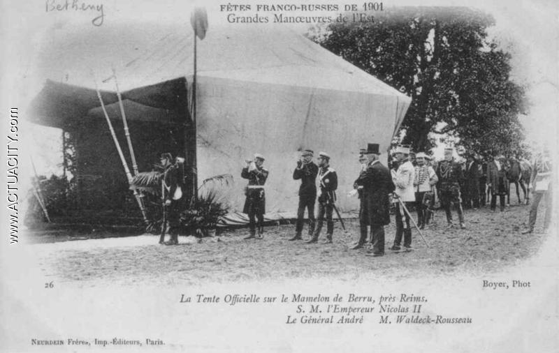 Tsar - la tente officielle.. Neurdein 26