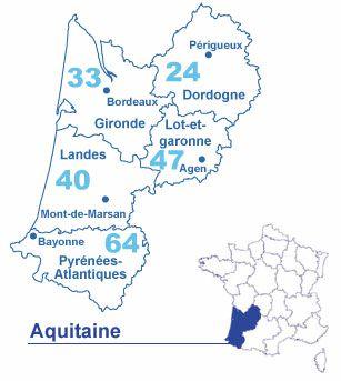 Carte Aquitaine