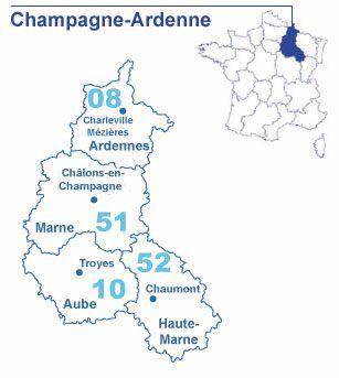 Carte Champagne-Ardenne