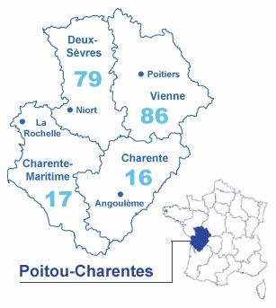 Carte Poitou-Charentes